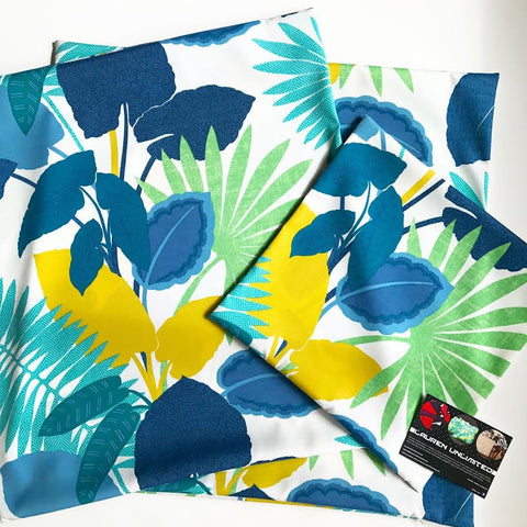 Lauren Unlimited custom made outdoor Costa Rica tropical cushion covers