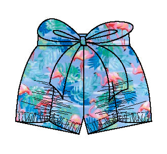 Flamingo Pucker Shorts
