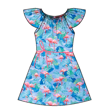 Flamingo Swing Dress