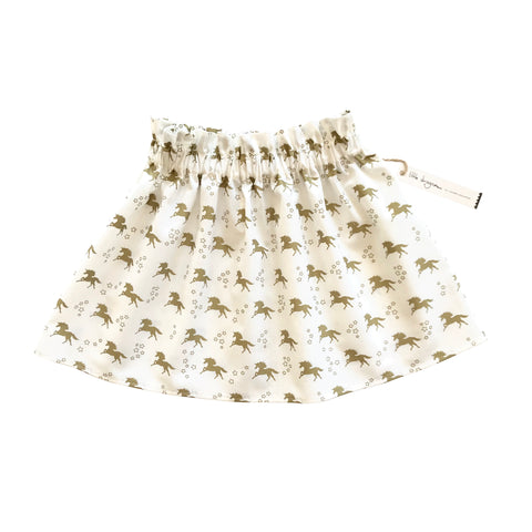 White and Gold Unicorn Skirt