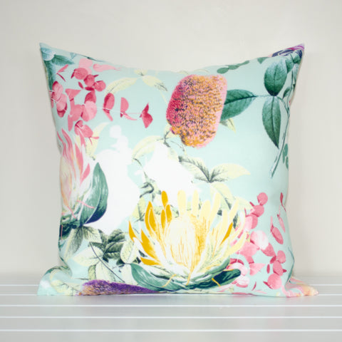 Australian Native and Protea Floral Indoor/Outdoor Cushion Cover