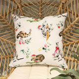 Australian Animals Christmas Cushion Cover in White
