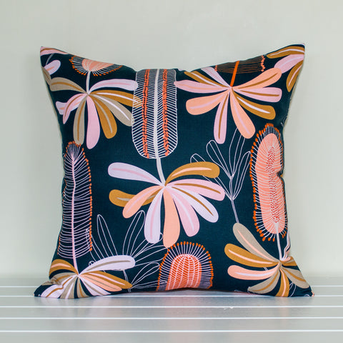 Australian Native Floral Banksia Cushion Cover