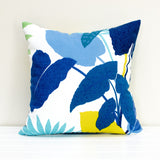 Lauren Unlimited Costa Rica White, Blue and Yellow Indoor/Outdoor Cushion Cover