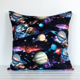 Black Space Cushion Cover