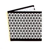Lauren Unlimited Dark Chocolate and White Geometric Table Runner