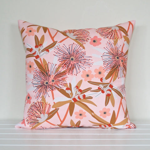 Australian Native Floral Penda Blossom Pink Cushion Cover