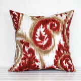 Crimson Sand Paisley outdoor cushion by Lauren Unlimited