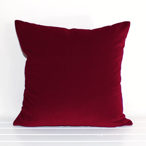 Ruby Red Velvet Cushion Cover