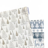 Lauren Unlimited Christmas table runner with Christmas trees and festive stripes