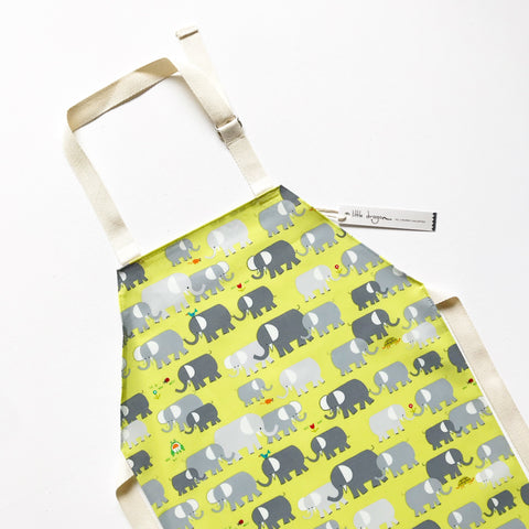 Organic Cotton Elephant Laminated Children's Apron