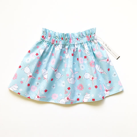 Blue Garden Bunnies Skirt
