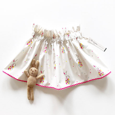 White and Pink Rabbit Skirt