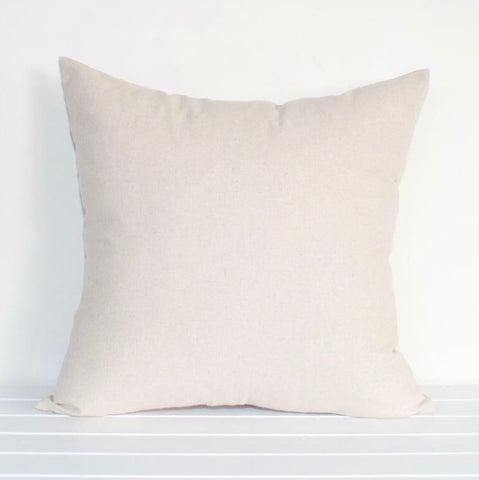 Natural Solid Colour Indoor/Outdoor Cushion Cover
