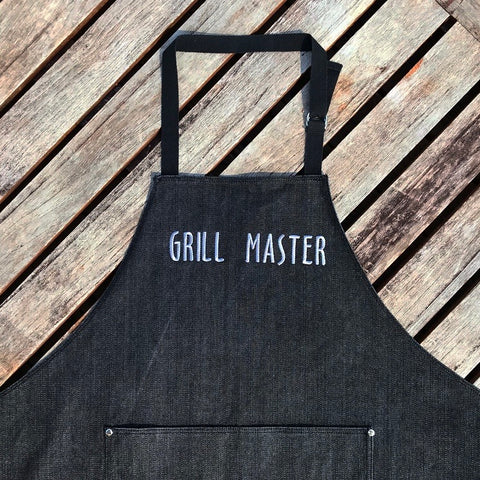 Grill Master Washed Black Denim Adult Apron