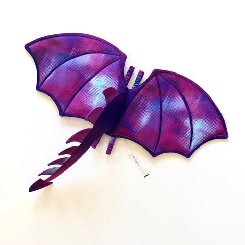 Purple Ombré Dragon Wings and Tail
