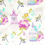 White, Lilac and Purple Birdcage Laminated Cotton Children's Apron