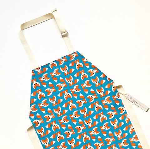 Organic Cotton Fox Laminated Children's Apron