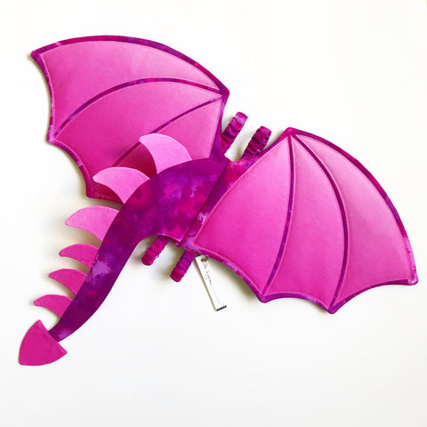 Pink Ombré Dragon Wings and Tail