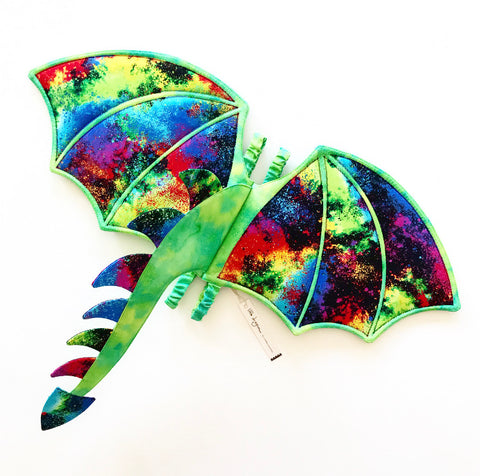 Kaleidoscope Dragon Wings and Tail