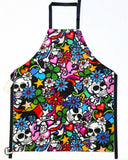 Street Skull Multi-Coloured Laminated Cotton Adult Apron