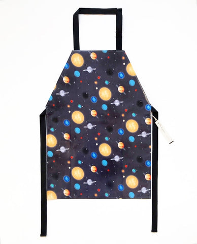 Planets Laminated Cotton Children's Apron