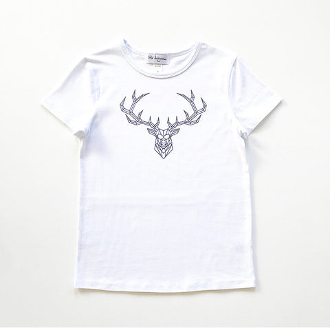Boy's Geometric Reindeer T-Shirt