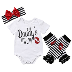 Daddy's WCW Onesie Set