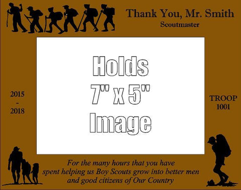Boy Scout Leader Thank You Frame D1 - Engraved Effects