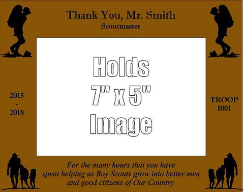 Boy Scout Leader Thank You Picture Frame D2 - Engraved Effects