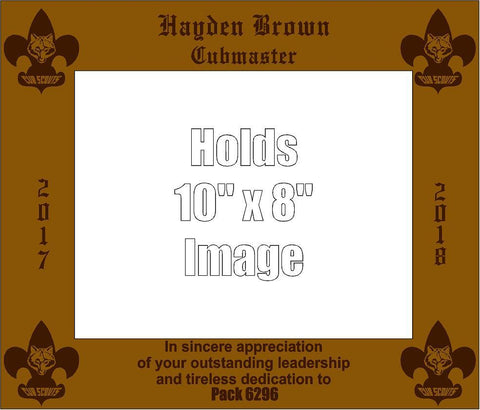 Cub Scout Leader Picture Frame - Engraved Effects