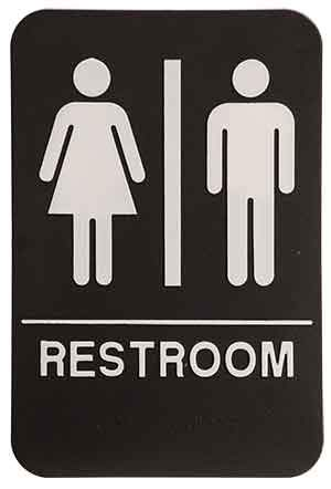 ADA Restroom Signs - Engraved Effects