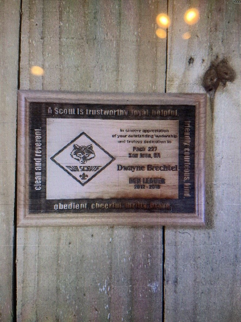 Cub Scout Leader Red Alder Wood Plaque D1 - Engraved Effects