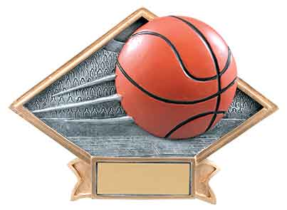 Diamond Basketball Plaque Resin - Engraved Effects