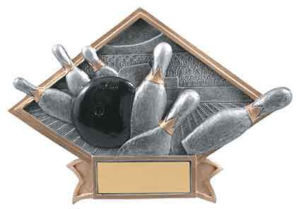 Bowling Trophy Plaque Award - Engraved Effects