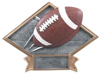 Football Award Trophy Resin - Engraved Effects