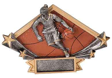 Girls Basketball Trophy Plaque - Engraved Effects