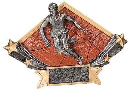 Boys Basketball Trophy plaque - Engraved Effects