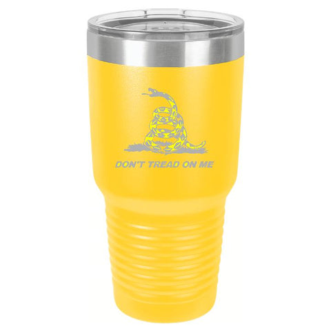 Don't Tread On Me Tumbler Cup D2 - Engraved Effects
