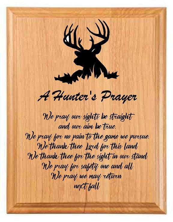 Deer Hunters Prayer Plaque Sign - Engraved Effects