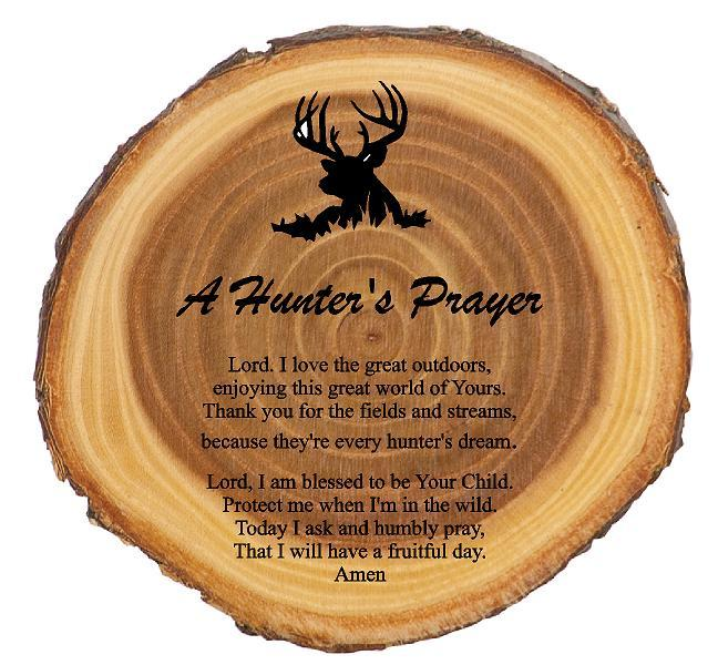 A Deer Hunters Prayer Rustic Plaque - Engraved Effects