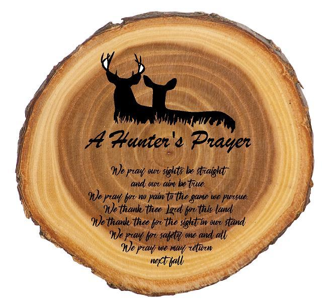 A Deer Hunter's Prayer Rustic Sign - Engraved Effects