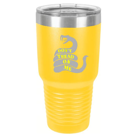 Don't Tread On Me Tumbler Cup D1 - Engraved Effects