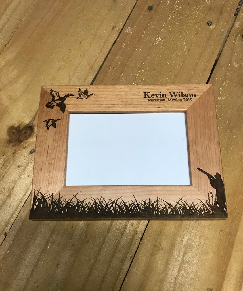 Duck Hunting Picture Frame - Engraved Effects
