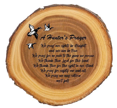 A Duck Hunter's Prayer Rustic Sign - Engraved Effects