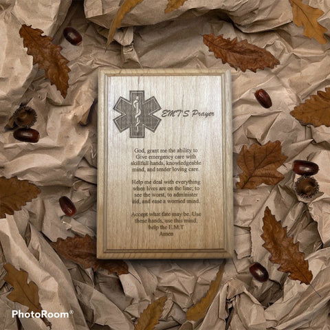 EMT Prayer Plaque - Engraved Effects