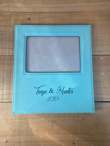 Leathertte Personalized Picture Frame - Engraved Effects