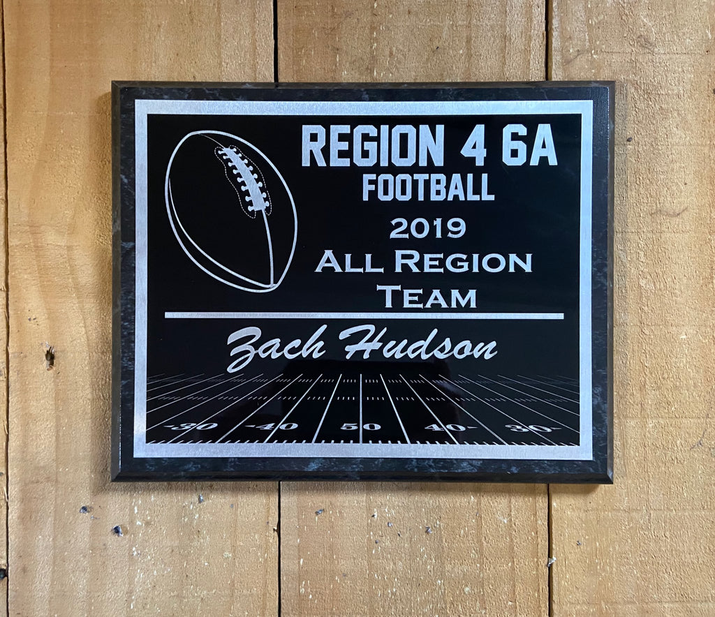 Football Plaque Award - Engraved Effects