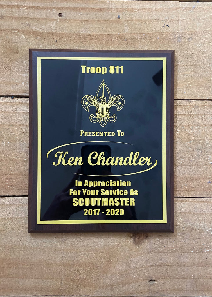 Boy Scout Leader Plaques - Engraved Effects