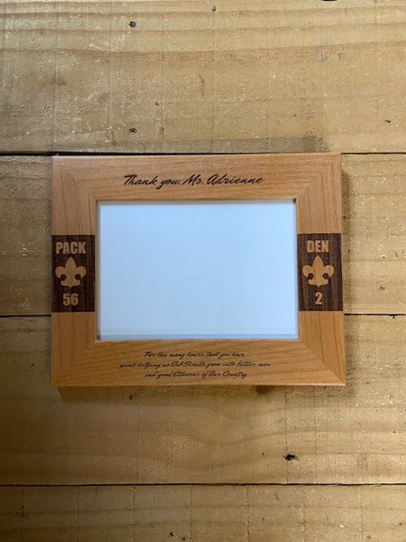Arrow of Light Picture Frame - Engraved Effects